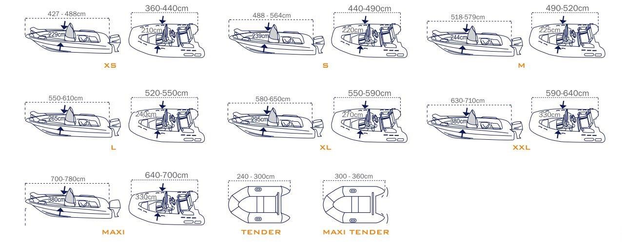 Bache routière pour bateau COVY LUX