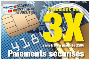 Paiements sécurisés paypal, carte bancaire !