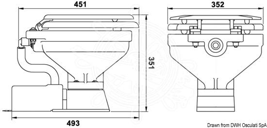 Wc Electrique Jabsco Compact 12v