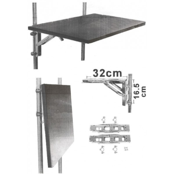 Equerre pliable en inox pour table chaise am nagement for Table exterieur pour camping car